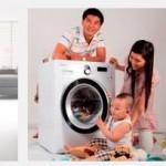 Máy giặt lồng ngang giặt sạch quần áo như thế nào