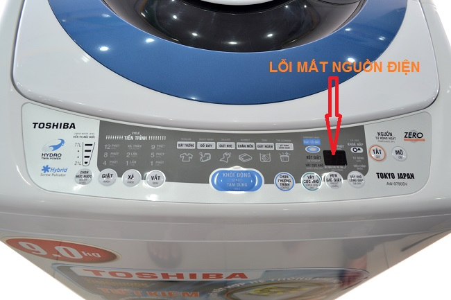 Sửa máy giặt Toshiba mất nguồn